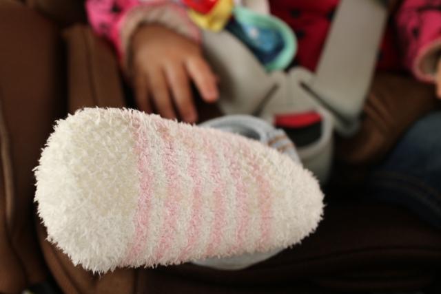 赤ちゃんの靴下のサイズの目安